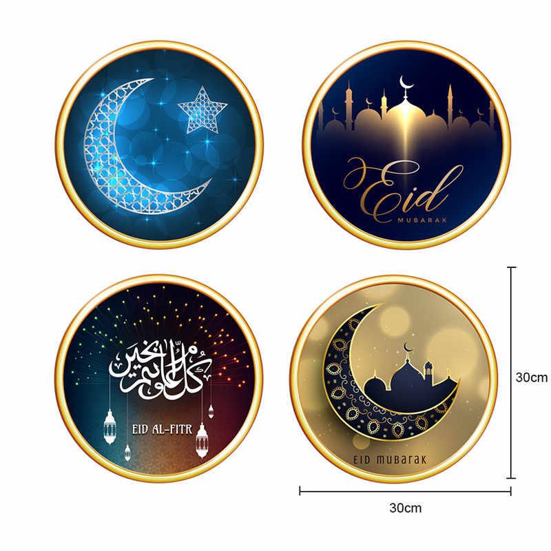 Ramadan Kareem Decorazione Eid Mubarak Palloncino Banner Ramadan Torta Bandiere Eid Al-Fitr in Lattice Balln Mubarak Favore di Partito da Parete decor