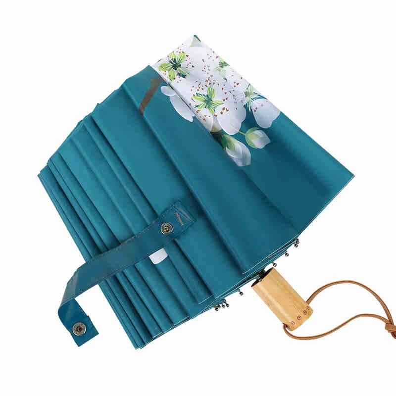 16 osso forte guarda chuva pêra flor queda feminino chuva engrenagem proteção parapluie guarda chuva parasol paraguas presente de natal