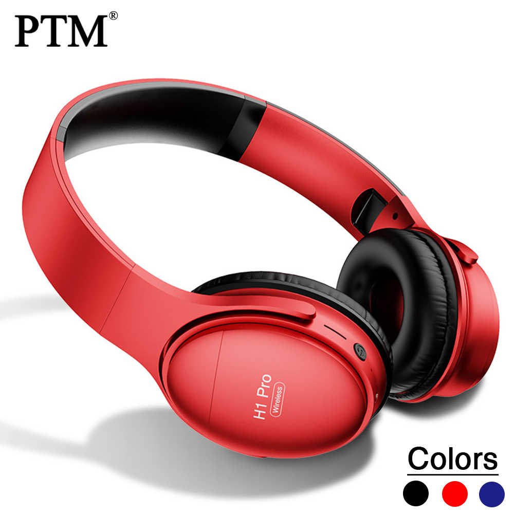 Ptm H1 Adjustable Wireless Headphones Bluetooth Headsets Headband Head Phones Set Comfortable Wearing Aliexpress