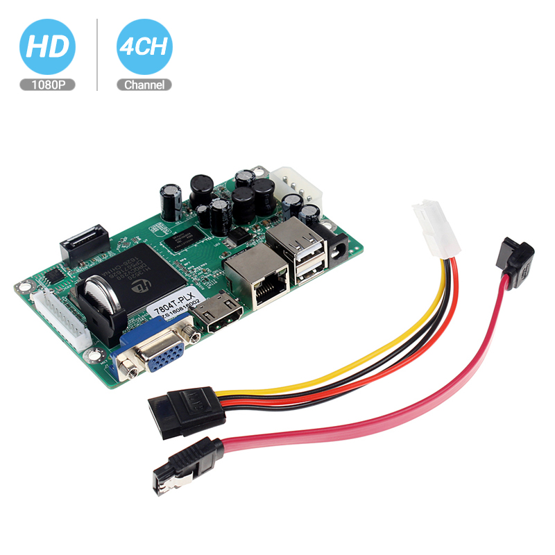 BESDER NVR Board 1080P 4CH Security Network Recorder Board 4CH1080P / 8CH960P ONVIF Email Alert Motion Detection With HDD Cable