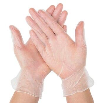 50/ 100 pcs Transparent Disposable Gloves Latex pvc Dishwashing/Kitchen/Medical /Work/Rubber/Garden/Food Gloves Universal
