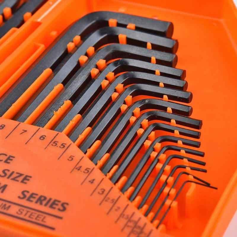 30 шт./компл. l-образный ключ с внутренним шестигранником набор 90 градусов прямоугольный стальной гаечный ключ комбинированный комплект ключей автомобильные инструменты коробка