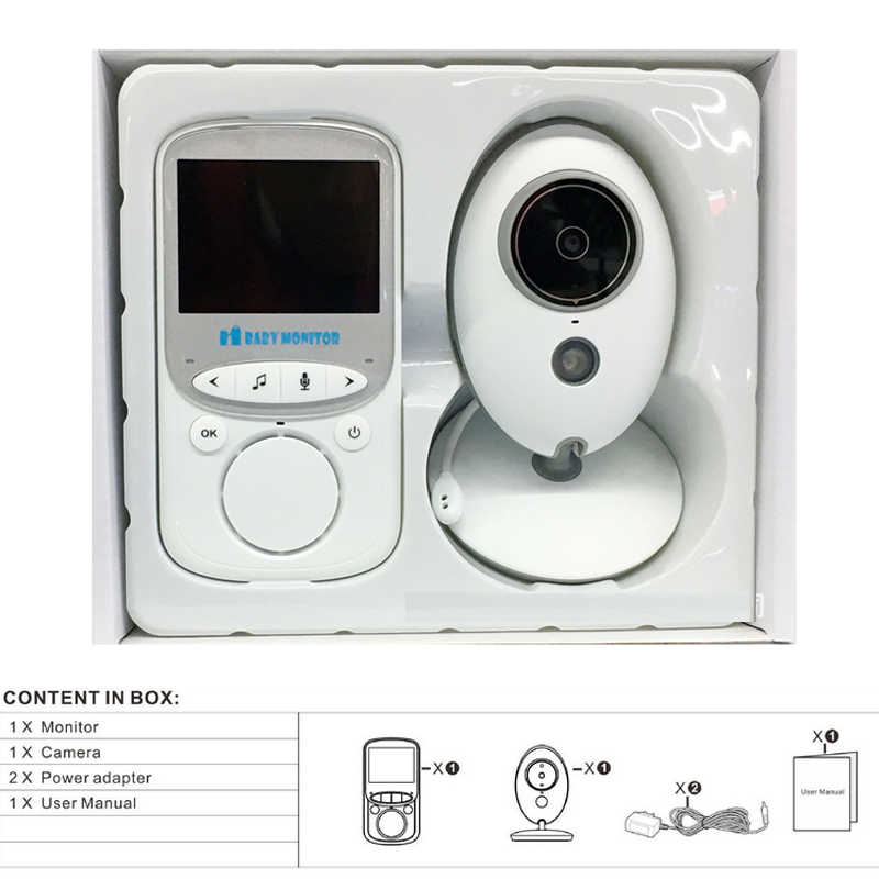 VB605 Video Baby Monitor Rumah Nirkabel 2.4G HD WIFI Control IR Night Vision 2-Way Intercom Kamera Keamanan telepon Bayi