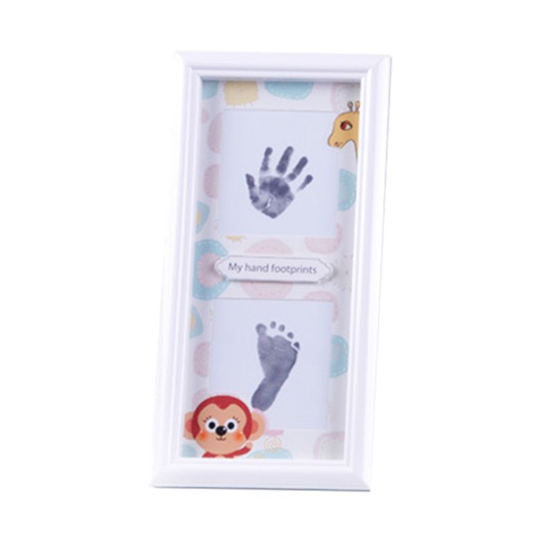Newborn Infants Hand Foot Print Mud Photo Frame Baby Souvenir Hundred Days New Parents Gifts Wall Decoration AXYA