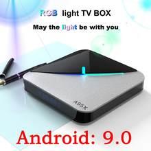A95x f3 ar smart android 9.0 caixa de tv amlogic s905x3 2g 16g 32g 4g 64g 8 k quad-core 4 k conjunto parte superior caixa media player