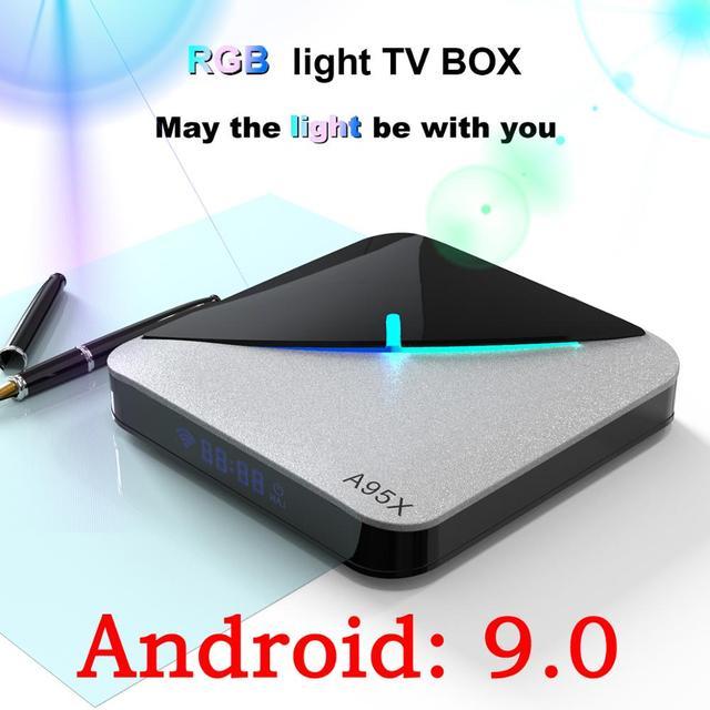 A95x f3 ar smart android 9.0 caixa de tv amlogic s905x3 2g 16g 32g 4g 64g 8 k quad core 4 k conjunto parte superior caixa media player