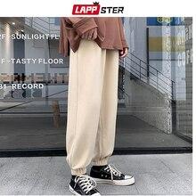 Cotton Trousers Joggers-Pants Streetwear Vintage Black Lappster Men Japan Mens Hip-Hop