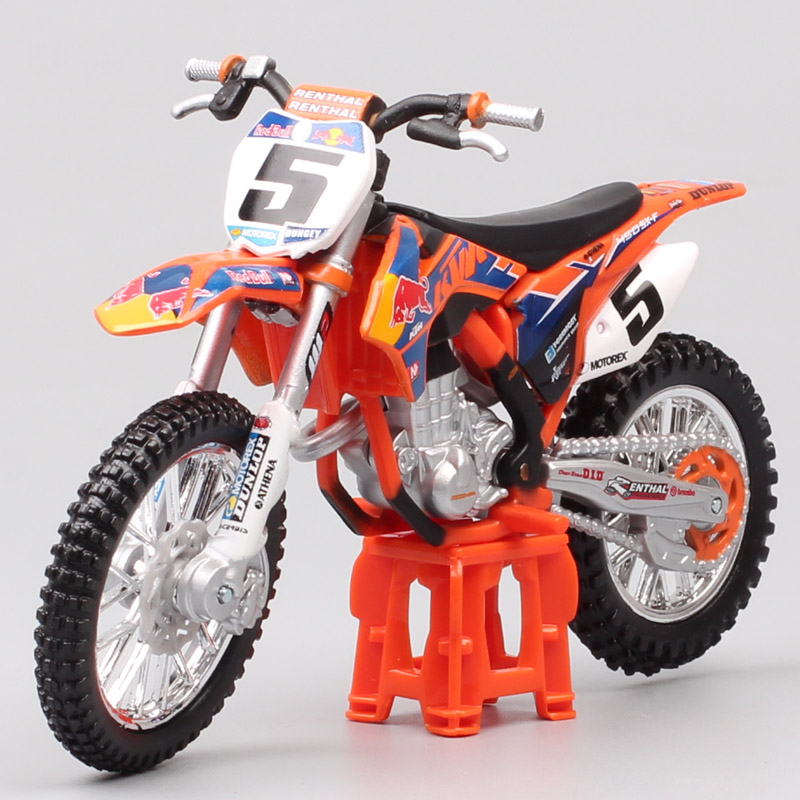1:18 Scale Mini Bburago KTM 450 SX-F SXF 2014 No.5 Ryan Dungey Redbull Racing Motocross Enduro Motorcycle Diecast Model Moto Dirt Bike Toy For Children Collection