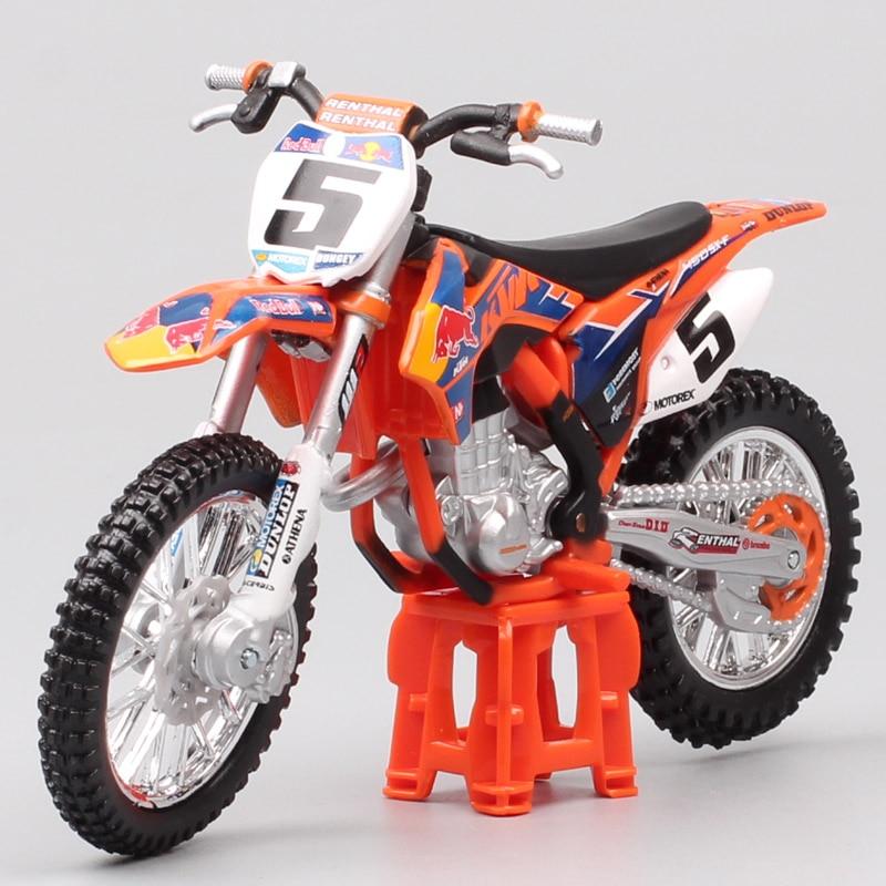 1:18 Scale Mini Bburago KTM 450 SX-F SXF 2014 No.5 Ryan Dungey Redbull Racing Motocross Enduro Motorcycle Diecast Model Moto Dirt Bike Toy For Children Collection