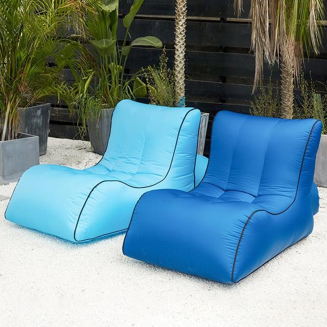 Modern Outdoor Sofa Blue color 2