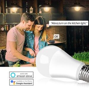 Image 2 - 85 265V E27 LED מנורת RGB 15W Bluetooth Wifi APP שליטה חכם הנורה 10W RGBW RGBWW אור הנורה IR שלט רחוק בית תאורה