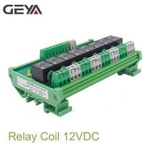 все цены на GEYA 8 Channel Relay Module DC 24V 12V Intermediate Power Relay Control Switch онлайн