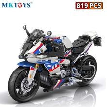 Toys Racing Building-Blocks Kids for 819pcs Bricks-Kits Track Motorbike-Model Car-City-Vehicle