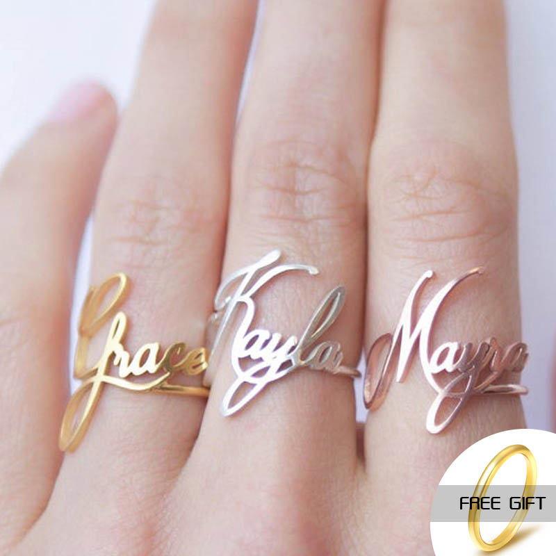 Name ring Custom Ring Children Sterling Silver Personalized Gift for Her Baby Girl
