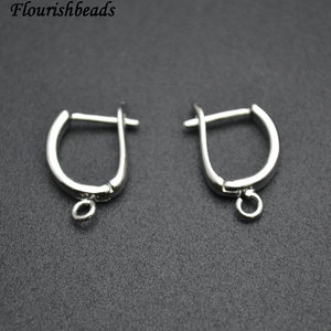 Image 2 - Nickle Free Anti rust color Plain Metal Earring Hooks Jewelry Findings 50pc Per Lot