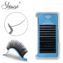 Individual Ellipse Flat Eyelashes Extensions False Lashes Split Tips Shaped