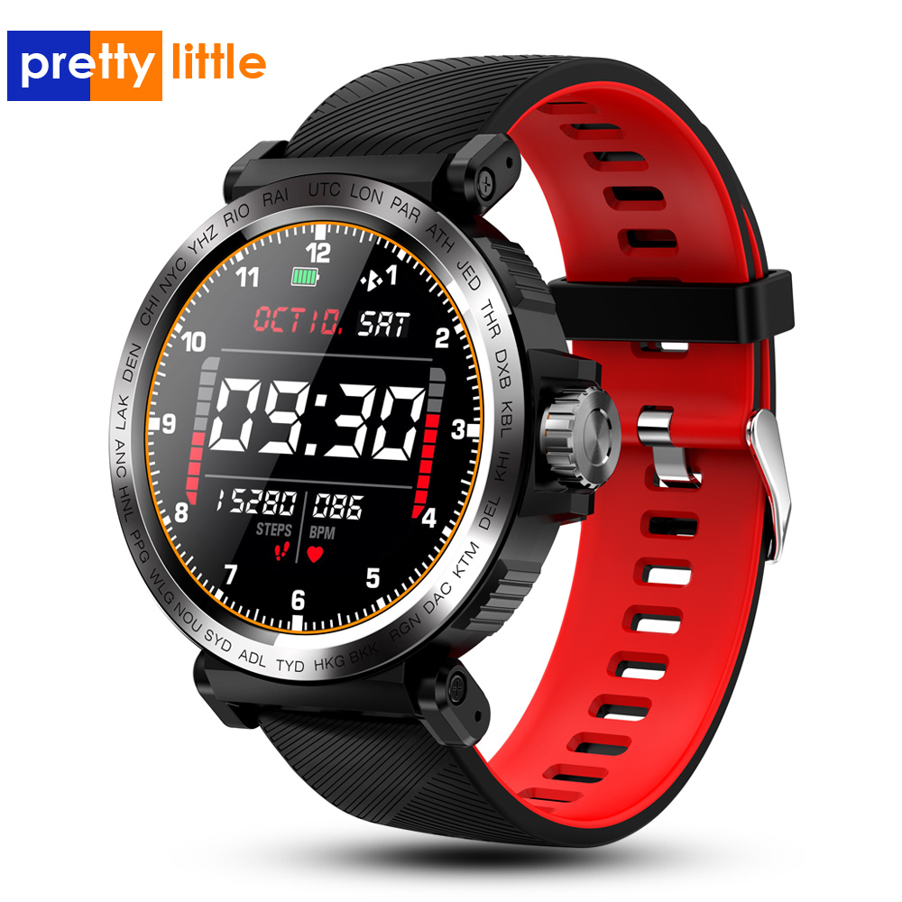 S18 Full Screen Touch Smart Watch IP68 waterproof Men Sports Clock Heart Rate Monitor  Smartwatch for IOS Android phoneSmart Watches   -