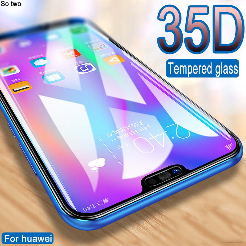 35D Tempered Glass For Huawei P20 30 Lite Pro Honor 9 Lite 10 Screen Protector On Huawei Mate 10 20 Lite Pro Protective Glass