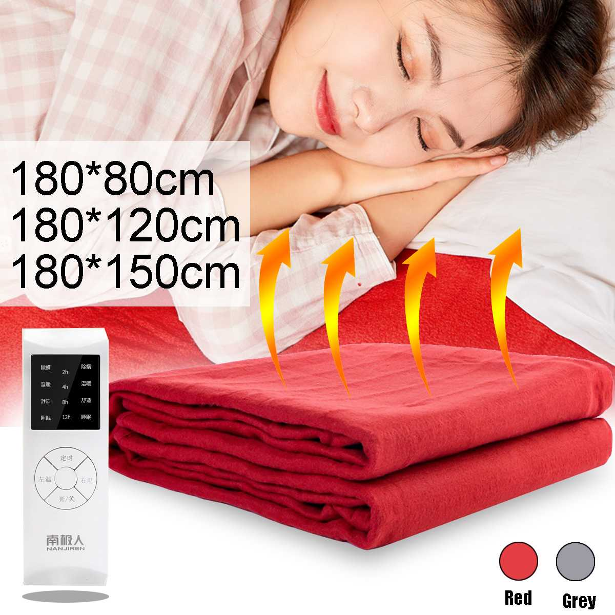 6 Gear 220V Electric Blanket Double High-temperature Electric Heated Blanket Bedroom Knee Body Warmer Bed Mattress Heaters Pad