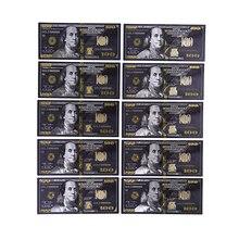 Античная черная Золотая фольга $100 памятные Поддельные доллары декор для банкнот