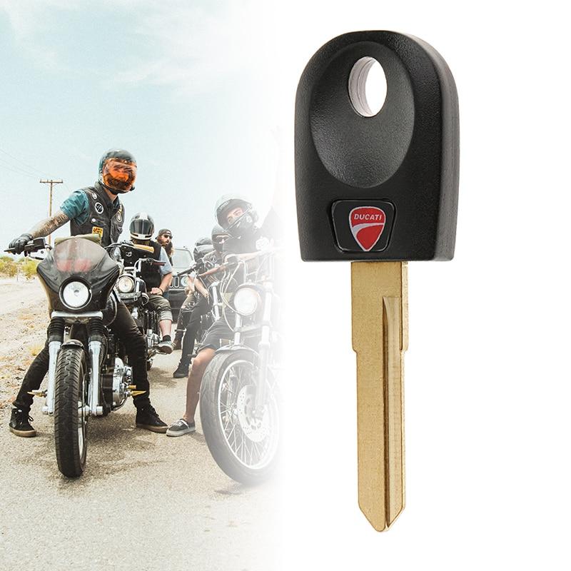 Motorcycle Single Trough Key Motorbike Key Blank & Blade For Ducati 600 748 848 999 1098 800 900 Monster S2R/S4/S4R/ST3 4x0.9cm