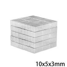 20/50/100/200/300 stücke 10x5x3mm Quader Block Magneten 10mmX5mm Neodym Magnet 10x5x3mm Permanent NdFeB Starken Magneten 10*5*3 N35