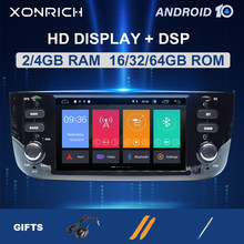 DSP 4GB 64G Autoradio 1 Din Android 10 Auto DVD Player Stereo Für Fiat/Linea/Punto evo 2012-2015 Multimedia GPS Navigation Audio