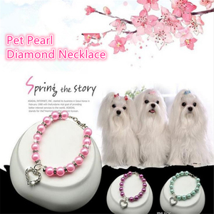 Pet Supplies Pearl Necklace Pe