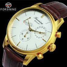 FORSINING Classic Automatic Mechanical Watch Men Power Reser