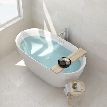 Aojin estilo europeu banheira de família acrílico banheiro único comum banheira autônomo 1500mm