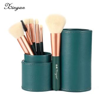 Juego de brochas de maquillaje XINYAN para sombra de ojos, mezcla de bases verdes, delineador de ojos, pestañas, ojos, Oem, herramientas de belleza, brochas de maquillaje