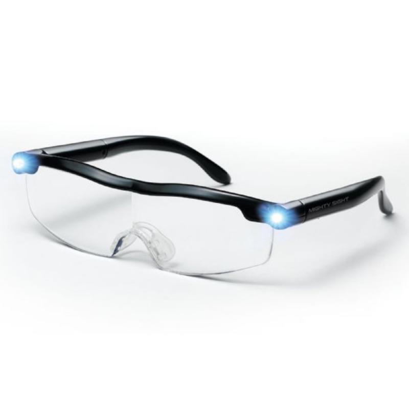 Mighty Sight LED Light Glasses Presbyopia Magnifier LED Luminous Night Vision Magnifying Eyewear Glasses 160% Magnification