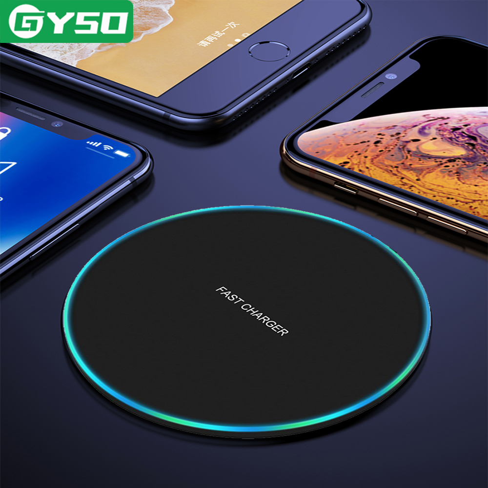 GYSO 20W Rápido Carregador Sem Fio Para Samsung Galaxy S10 S9/S9 + S8 Nota 9 USB Qi Carregamento pad para iPhone 11 XS Pro Max XR X 8 Plus