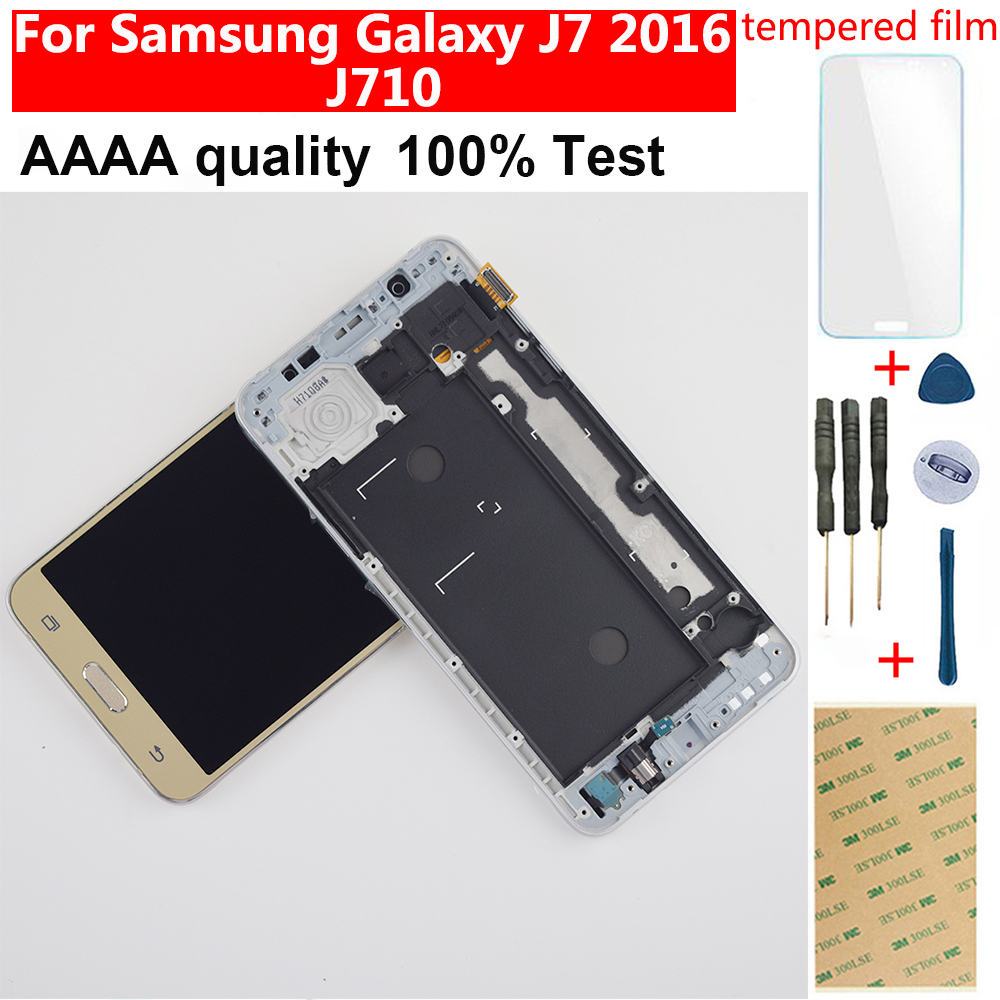 Für <font><b>Samsung</b></font> <font><b>J7</b></font> <font><b>2016</b></font> <font><b>Display</b></font> Touchscreen Digitizer Montage Für <font><b>Samsung</b></font> J710F <font><b>LCD</b></font> <font><b>Display</b></font> J710 J710M J710H J710FN <font><b>LCD</b></font> Touch image