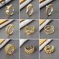 Shuangshuo уникальный дизайн в форме хлеба Открытые Кольца для женщин геометрические аксессуары модные ювелирные изделия подарки бижутерия