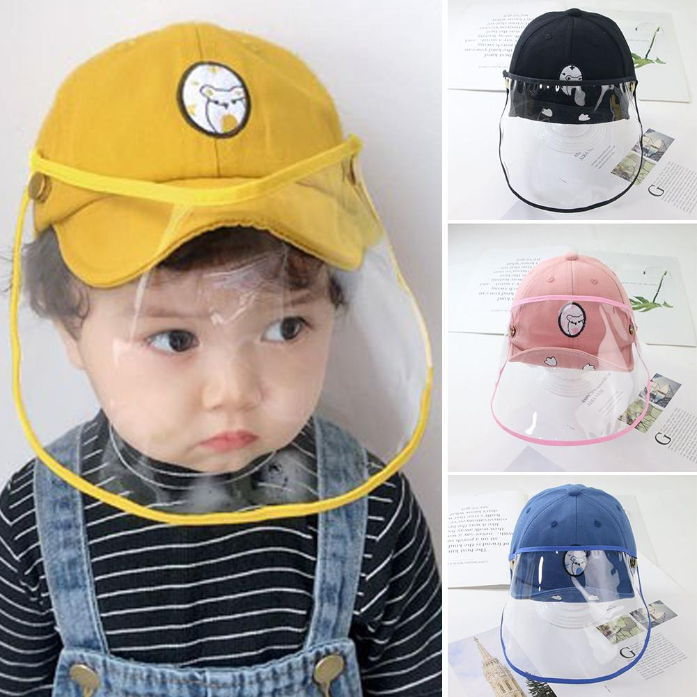 Kids Baseball Hat Baby Face Protection Supply  Face Shield Anti-Spitting Dustproof Protective Cover Cap  Safety Lightweight