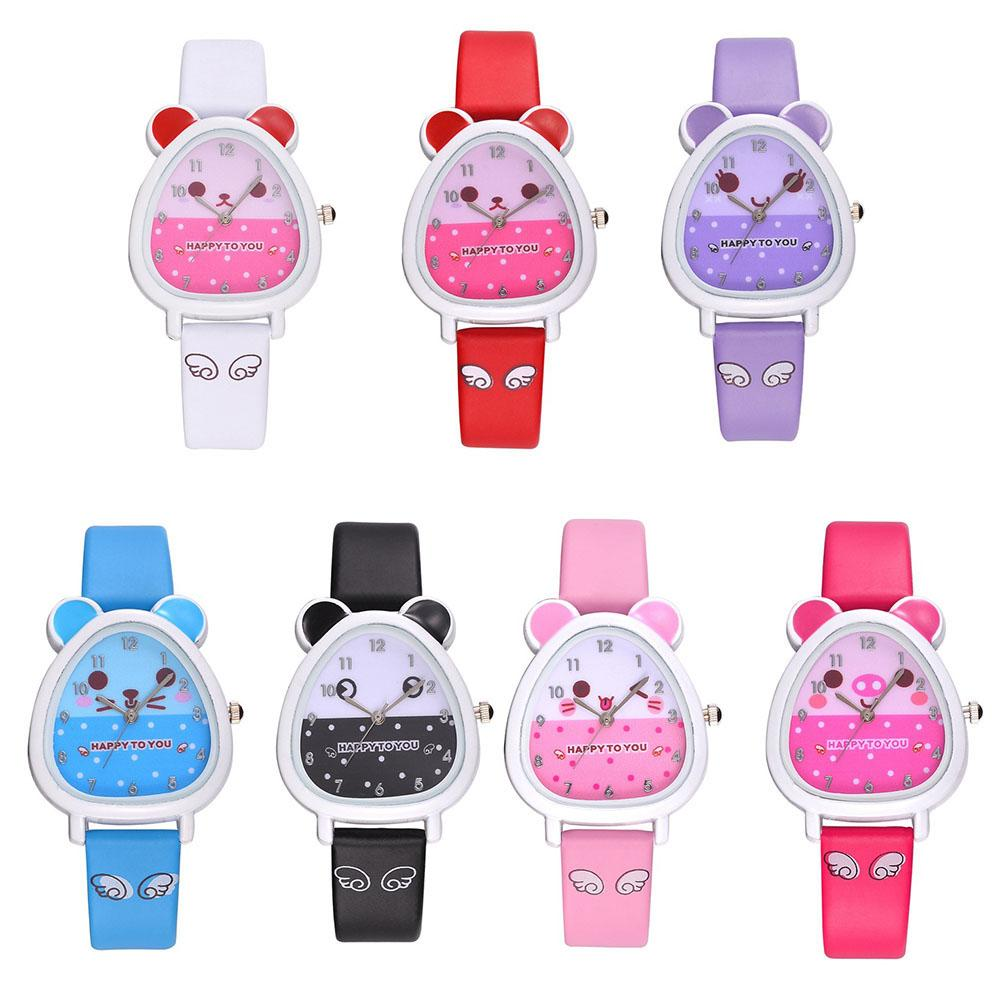 Cartoon Kids Watches Boy Girl Clock Student Sports Children Faux Leather Strap Watch Child Quartz Wristwatches Baby Xmas Gift
