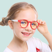 Kids Student Eyeglasses Silicone Glasses Frame Children Anti-Blue Rays Light Computer Optical For Baby Boys Girls