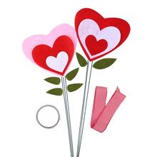 DIY цветочный горшок с ленточкой, принтом «сердечки» и в форме декоративный набор с возможностью креативного самостоятельного выбора между горшок для растений, аксессуары для детского сада Развивающие игрушки для детей, игрушки