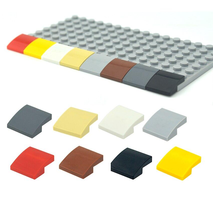 Сборные детали 50 шт., изогнутые строительные блоки 2x2, кубики «сделай сам», развивающие детали MOC Tech, игрушки, совместимые с 15068