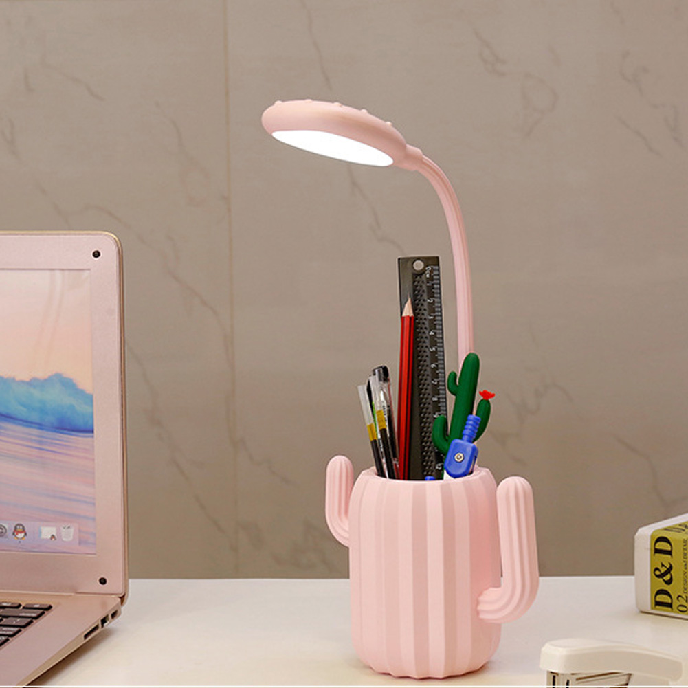 Cactus Touch Control Eye Protection Table Lamp Reading Light Multipurpose USB Charging Led Adjustable Flexible