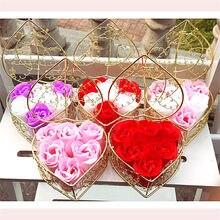 6 uds Día de San Valentín de regalo para novia regalo para novio jabón flores rosas regalos de boda para invitados regalo A una chica regalo de damas de honor favores de partido