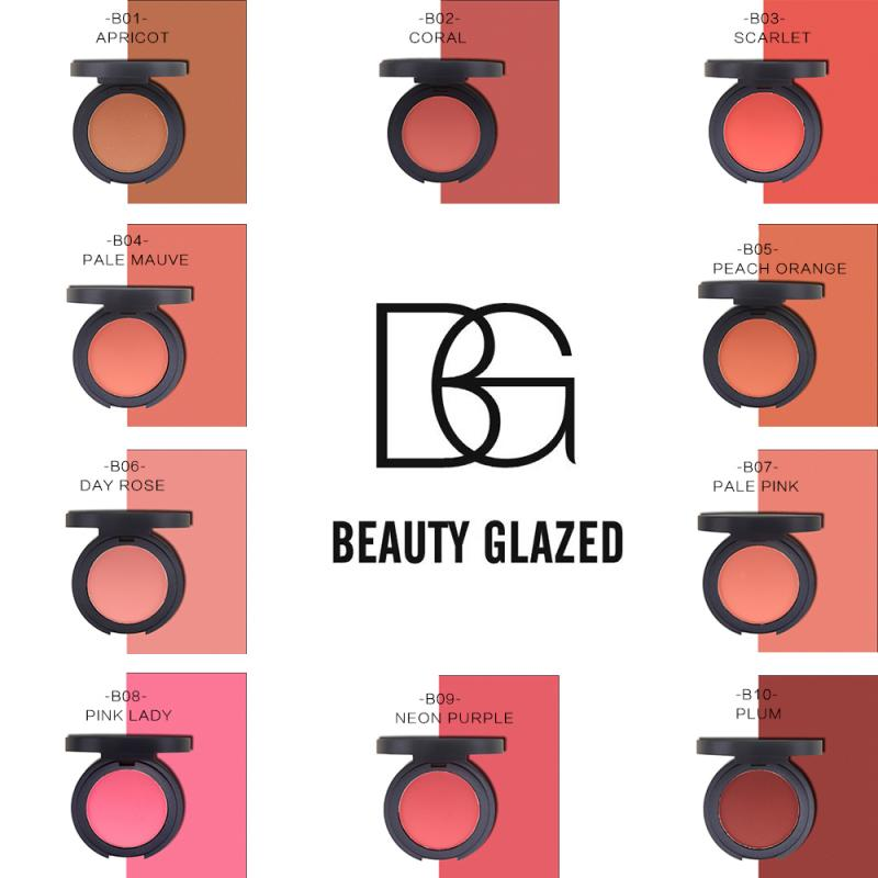 Beauty Glazed 10 Color Face Blusher Powder Rouge Makeup Cheek Blusher Powder Concealer Foundation Matte Oil Control Blush TSLM2
