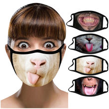 D máscara respirável, lavável e reutilizável à prova de poeira anti-ultravioleta máscaras de algodão equitação mascarilla confortável e macio