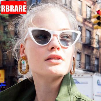 RBRARE cukierkowe kolory Cateye okulary przeciwsłoneczne damskie Vintage plastikowe okulary Lady Retro zakupy okulary przeciwsłoneczne Lunette De Soleil Femme tanie i dobre opinie Cat eye Dla dorosłych WOMEN Z tworzywa sztucznego Antyrefleksyjną UV400 Akrylowe Sunglasses GD97007 50mm 37mm Round face Long face Square face Oval shape face