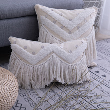 Tassel Cushion Pillows Sofa-Mats Living-Room Bohemian-Style Bedroom