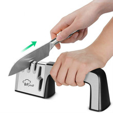 Kitchen Knife Sharpener 4-in-1 Manual Knife And Scissors Sharpening System Stainless Steel Blades With Non-slip Base стоимость