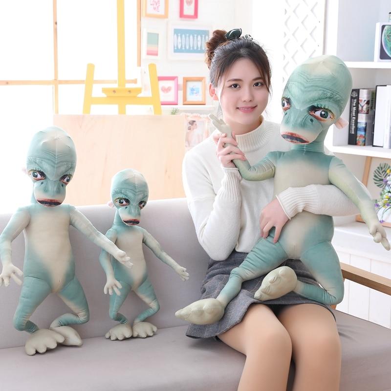 E.T. Animated Figure Cartoon Stuffed Plush Doll Movie Character Creative Plushie Kids Boys Girls Gift Green 60/80/100cm