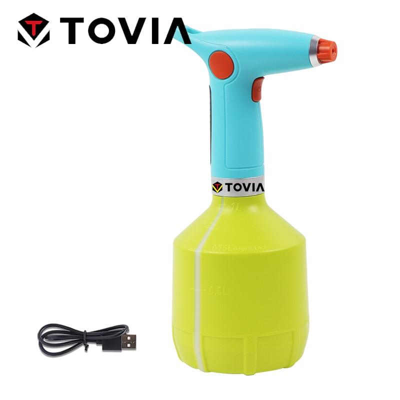 Pulvérisateur de jardin électrique automatique bouteille de pulvérisation d'eau Rechargeable buse de brumisation réglable pulvérisateur de batterie fertizin de jardinage