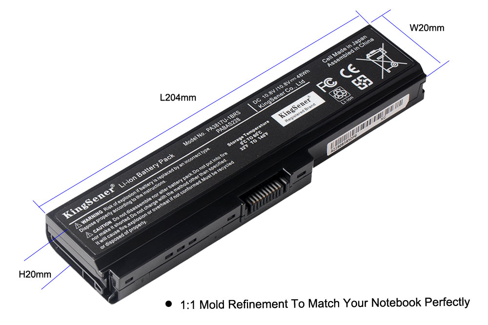 Image 5 - KingSener PA3817U 1BRS PA3817U Battery For Toshiba Satellite A660 C640 C600 C650 C655 C660 L510 L630 L640 L650 L670 L770 PA3818U-in Laptop Batteries from Computer & Office
